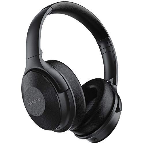 Mpow H17 Casque Bluetooth à Réduction de Bruit,[Jusqu'à 45 Heures] Casque Bluetooth avec Micro CVC 6.0 Charge Rapide, Casque à Réduction de Bruit Pliable avec Étui Portable pour Téléphone/Tablettes