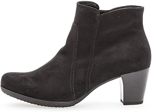 Gabor Damen Ankle Boots 94.680,Frauen Stiefel,Ankle Boot,Halbstiefel,Damenstiefelette,Bootie,knöchelhoch,Blockabsatz 5cm,Einlegesohle,F Weite (Normal),schwarz,UK 4.5