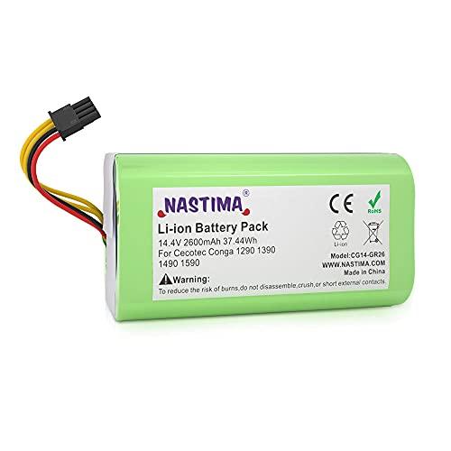 NASTIMA 14.4V 2600mAh Batería de Repuesto de Iones de Litio Compatible con Conga Excellence 1290 1390 1490 1590