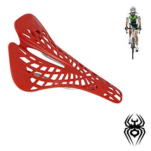 fang zhou Cycling Bicycle Hollow Carbon Fiber Bike Saddle Seat Ergonomics Design Non-Slip Waterproof Comfortable Spider Cushion Accessories, for Mountain Bikes