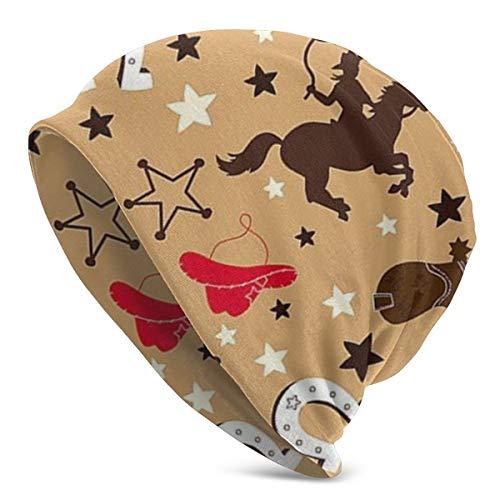 NAQIAMHAT Buckaroo Minky Pferd Wintermütze Herren Damen Long Slouch Hut Strickmütze Beanie warmen Cap