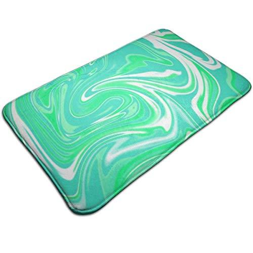 tyui7 Felpudo Mint Water Color Alfombra de Entrada Alfombrillas Antideslizantes Alfombra de Puerta fácil de Limpiar Alfombra para Interior y Exterior Patio 60x40 cm