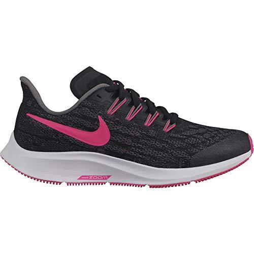 Nike Air Zoom Pegasus 36 (GS), Zapatillas de Atletismo Unisex niño, Multicolor (Black/Hyper Pink/Gunsmoke/White 62), 32 EU