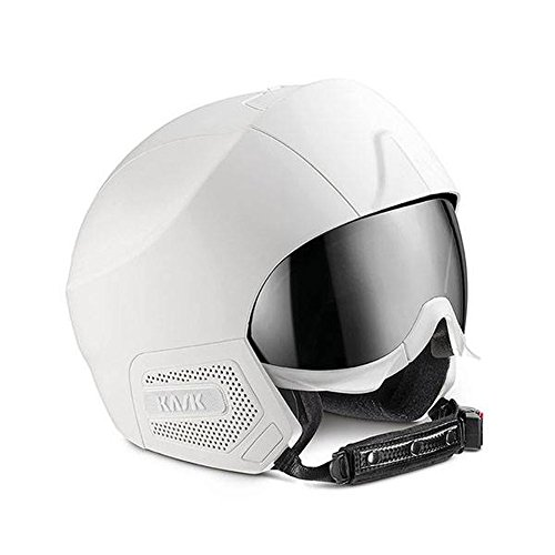Kask Stealth Ski Helmet - White Matte with Silver Mirror 60