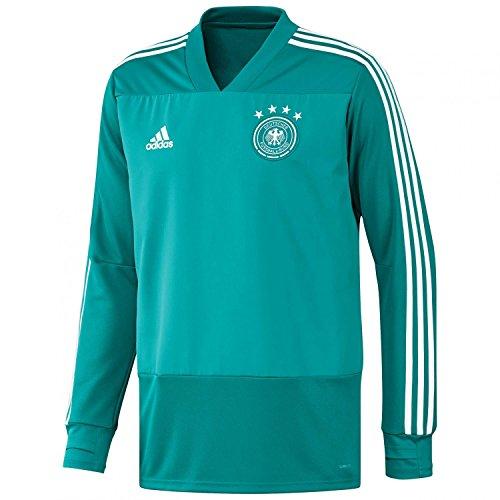 adidas Selección Alemana de Fútbol Camiseta de Entrenamiento, Hombre, Verde (Eqtver/Blanco), XS