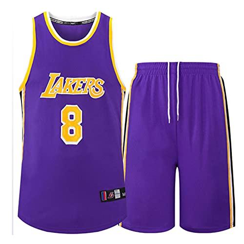 Wsaman Jersey Transpirable y de Secado rápido, Jersey # 8 Baloncesto Jersey Bordado Fan,Hombres Jersey Baloncesto, 8 Camiseta de Jugador de Baloncesto para Hombres,Púrpura,3XL