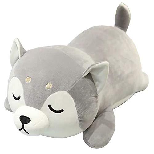 ERDAO Husky Plush Pillow,Huskie Stuffed Animal Toy Puppy Throw Pillow for Kids,Valentine's Day,Christmas (19.6inch)