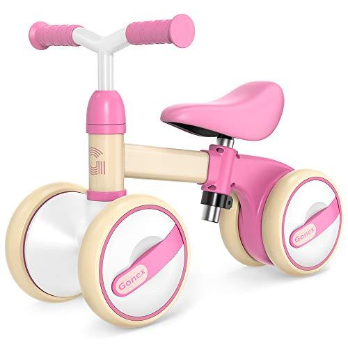 Gonex Bicicleta sin Pedales para Niñas y Niños de 10-36 Meses Bicicleta Equilibrio de Altura Ajustable Triciclos Bebes Correpasillos Bebe 1 Año Regalo