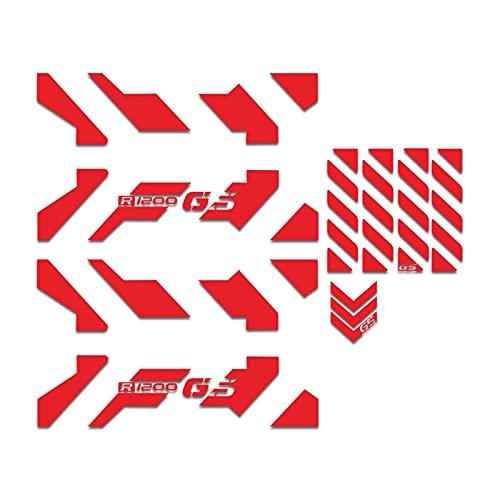 Caso de la Motocicleta Pegatina GS Motocicleta Caja de Aluminio Decoración Lateral Pegatinas universales Calcomanías para R1250GSA R1200 GSA F850 GSA F 750GSA F700GSA (Color : Red)