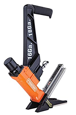 "Freeman PF1618GLCN Pneumatic 3-in-1 16-Gauge and 18-Gauge 2"" Flooring Nailer Ergonomic and Lightweight Nail Gun for Tongue and Groove, Hardwood, and Engineered Flooring from Prime Global Products"
