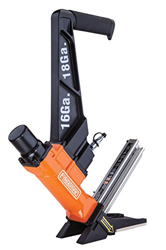 Freeman PF1618GLCN Pneumatic 3-in-1 16-Gauge and 18-Gauge 2' Flooring Nailer Ergonomic and Lightweight Nail Gun for Tongue and Groove, Hardwood, and Engineered Flooring