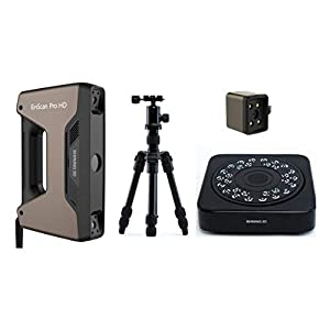 New EinScan Pro HD 3D Scanner with Turntable, Tripod, Color Pack, 0.2mm Resolution, 0.04mm...