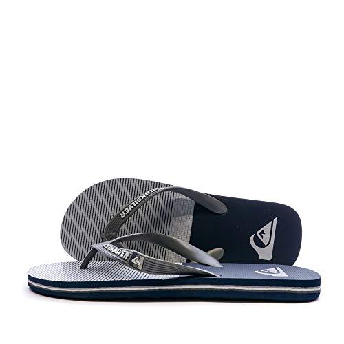 Quiksilver Molokai Tijuana, Zapatos de Playa y Piscina Hombre, Negro (Grey/Grey/Black Xssk), 43 EU