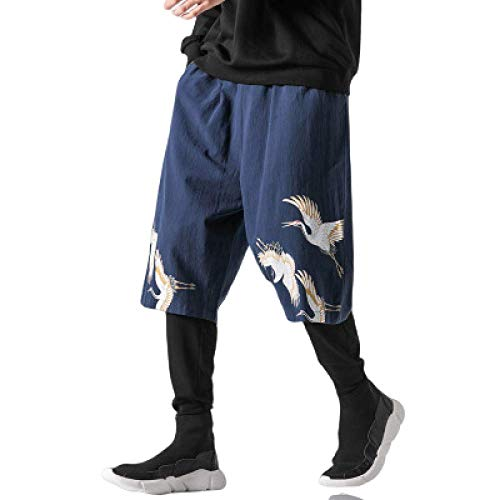 nobranded Pantalon Homme Coton et Lin Style Chinois imprimé lâche Grande Taille en Plein air décontracté Escalade Pantalons de Marche