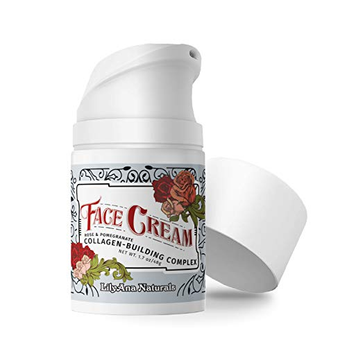 eye cream for faces LilyAna Naturals Face Moisturizer - Made in USA, Face Cream for Women AND Men, Anti-Aging Wrinkle Cream for Face, Helps With Dry Skin and Dark Spot Brightening, Rose and Pomegranate Extracts - 1.7oz