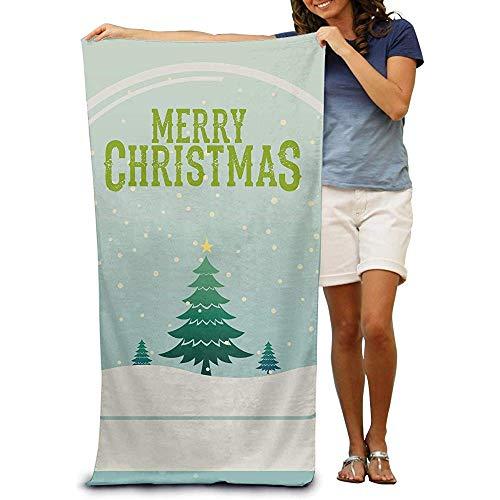 La.R Strandlaken van 100% katoen, sneldrogend voor zwembaden Merry Christmas 80 x 130 cm