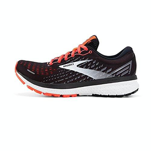 Brooks Damen Ghost 13 Laufschuh, Black Ebony Coral, 36.5 EU