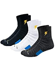 BLITZSOX Hi-Tech Performance Athletic Socks (Badminton, Running, Gym & Indoor Training), Pack of 3