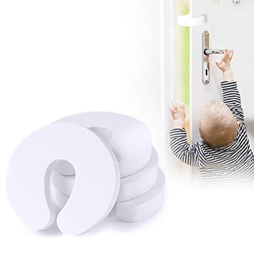 nuoshen 4 x Sicherheits-Türschutz, weiche Tür-Fingerschutze, Schaumstoff-Türstopper für Baby-Fingerschutz
