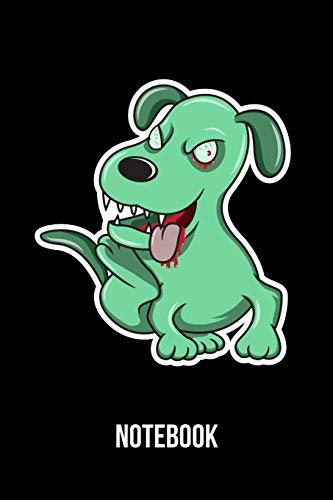 Notebook: A5 Notizbuch für Halloween und Zombie Apokalypsen Fans mit Zombie Hund