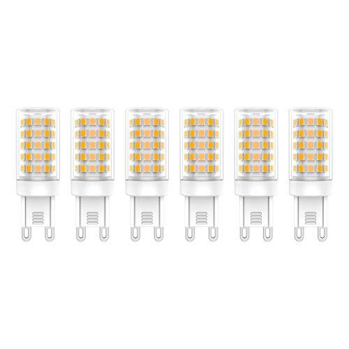 Bombillas LED G9, 7W (Equivalente a 70W), Blanco Cálido (3000K), AC220-240V, Sin Parpadeos, No Regulable, 700 Lúmenes, CRI>80, Paquete de 6 - (Blanco Cálido, 7W)