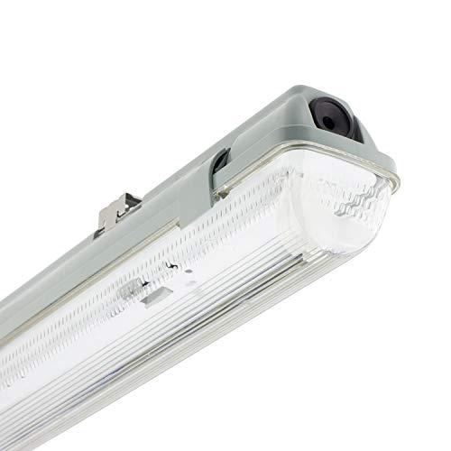 Pantalla Estanca para un Tubo de LED 1200mm PC/PC Conexión un Lateral