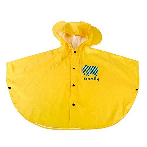 Gagacity Unisex Bambini Slim Mantello Impermeabile Giacca Antipioggia Poncho con Cappuccio Mantella Pioggia Blue Cherry/S
