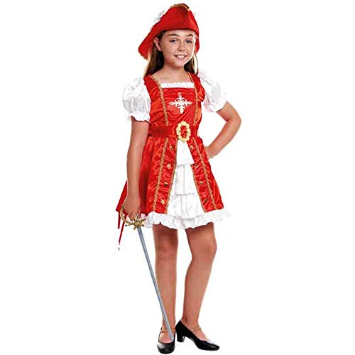 Disfraz Mosquetera Niña Carnaval Históricos (Talla 3-4 años) (+ Tallas)