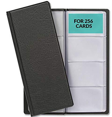 Visitenkartenmappe für 256 Karten | Visitenkarten Aufbewahrung | Platzsparend mit Übersichtliche Kartenhüllen | Visitenkartenbuch für Büro