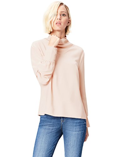 Marchio Amazon - find. AN5478, Camicia Donna, Beige (Smoke Pink Ivory), 40, Label: XS