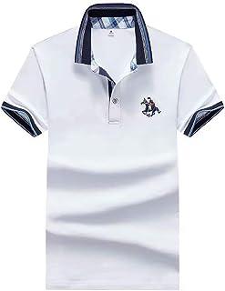Dwayne 德威尼 [两件减10元] 短袖T恤男纯棉翻领Polo衫夏季青年纯色薄款半袖保罗衫XHJUY879