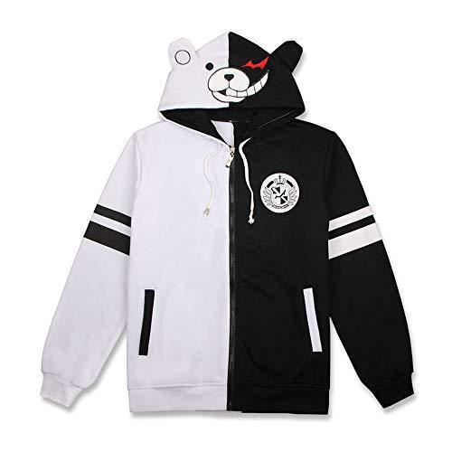 KIYOUMI Unisex Danganronpa Monokuma Cosplay kostuum Anime Hoodie Sweatshirt met lange mouwen Casual Jacket