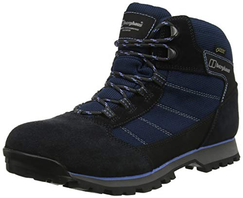 Berghaus Hillwalker Trek Tech, Chaussures de Randonnée Basses Femmes, Bleu (Navy/Blue N07), 42 EU
