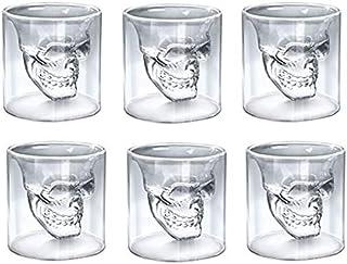 CRYSTAL SKULL SHOT GLASS (6PCS SET)