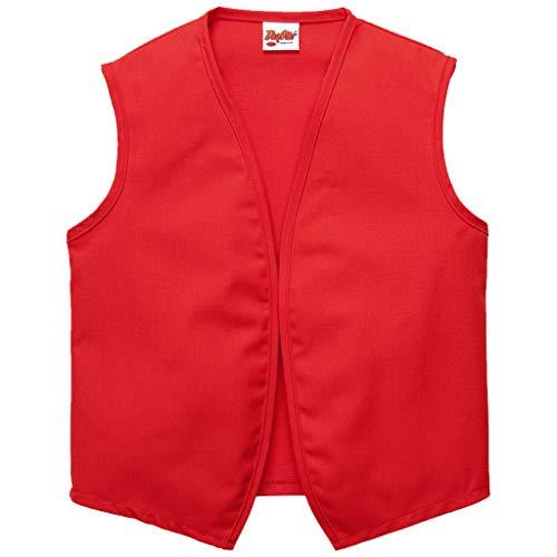 DayStar Apparel Unisex Uniform Vest - No Pockets - Style 740NP (Medium, Red)