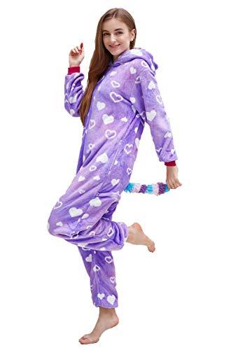 Unisex Adult Pajamas, Nousion Cosplay Christmas Unicorn Sleepwear Onesies Outfit
