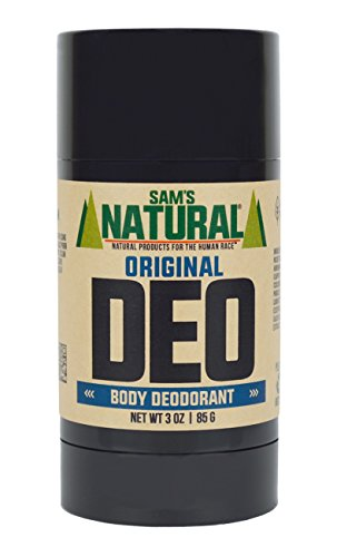 Sam's Natural Deodorant - Aluminum Free - No phthalates, parabens, sulfates, or dyes - Made in New Hampshire - For Men, Women, Unisex - Vegan, Cruelty Free - 3 oz - Original