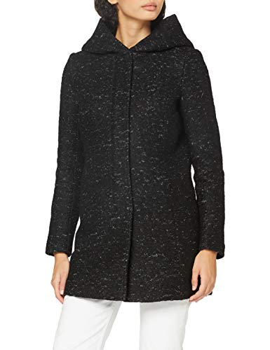 Only Onlnewsedona Wool Coat CC Otw Abrigo de Mezcla de Lana, Negro, XS para Mujer