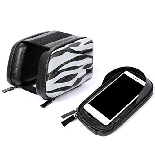 Pinhaijing Hard Shell Mountain Bike Front Frame Bag Bicycle Top Tube Large Capacity Case Waterproof Phone Pouch Mount Pack