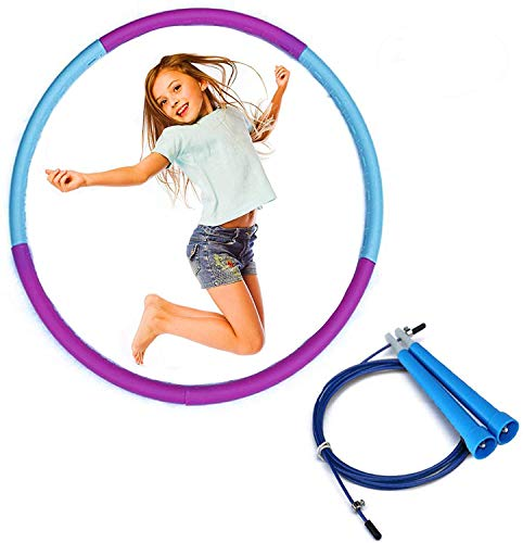 Sale!! Alafar Hula Hoop for Kids - Weighted Hula Hoop for Kids - Hula Hoop Fitness with Jump Rope Wo...