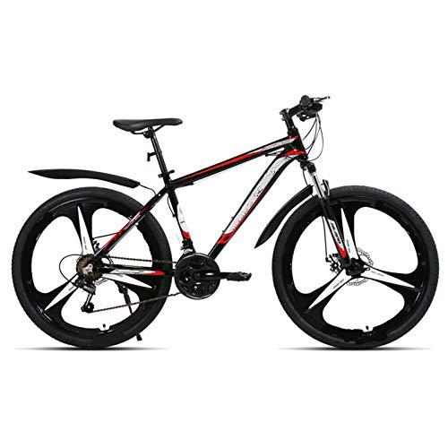 ndegdgswg 26 pulgadas 21 velocidad, aleación de aluminio suspensión bicicleta doble freno disco bicicleta montaña