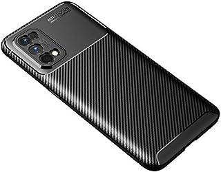 جراب من البولي يوريثان الحراري مصنوع من ألياف الكربون (7/7 Pro) من Realme 7 Pro, أسود)