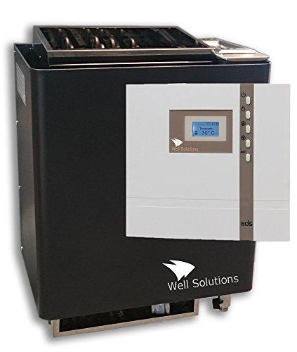 Well Solutions® Sauna Premium Set Bi-O Mat in 6 kW und Premium Steuerung Econ H1, Silikonkabel, Steine