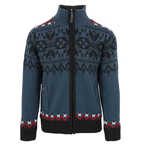 ICEWEAR Gunnar Norwegian Fully Lined Jacket | Comfortable Wear Sweater Dark Slate