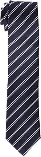 Hackett London Mini Track Stripe Corbata, Multicolor (Navy/White 5DJ), Talla única para Hombre