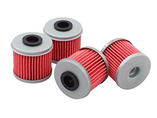 Pack of 4 Oil Filter for Honda TRX450ER TRX450R ATV CRF250R CRF250X CRF450R CRF450X CRF150R CRF150RB Husqvarna TC250 TE250 TXC250 TE310