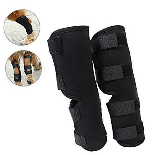 Yuqoka Dog Knee Brace for Torn Acl Hind Back Leg Dog Canine Protector Rear Leg Hock Joint Wrap...