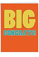Big CongratulationsおめでとうございますJoke用紙カード 1 Jumbo Congratulations Card & Enve. (J2723CGG)