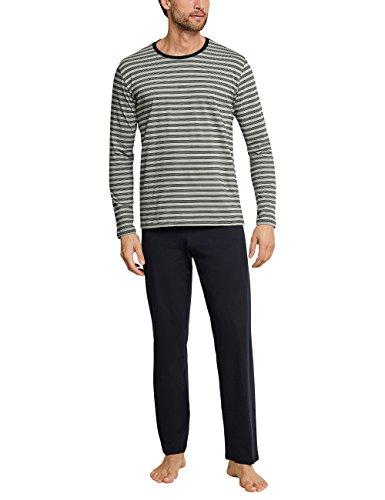 Schiesser Herren Anzug Lang Zweiteiliger Schlafanzug, Grün (Khaki 701), Medium (Herstellergröße: 050)