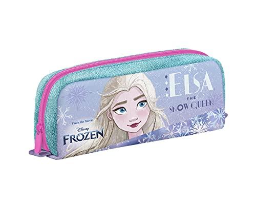 Portapenne Frozen, Rosa e Viola, Astuccio Scuola